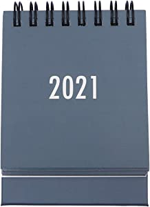 STOBOK 2020-2021 Desk Calendar Stand Up Desktop Year Calendar Organizer Flip Daily Scheduler Monthly Pages Easel Calendar (Grey)