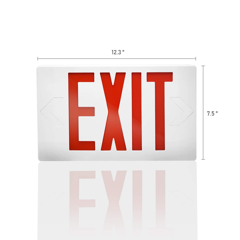 eTopLighting AGG3018 LED Exit Sign Emergency Light Lighting Emergency LED Light//Battery Back-up//Red Letter 4 Pack