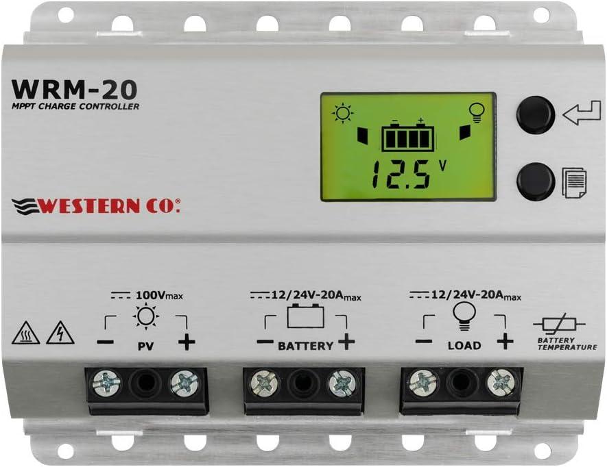 WRM20 Regulador de carga MPPT 20A con Pantalla LED