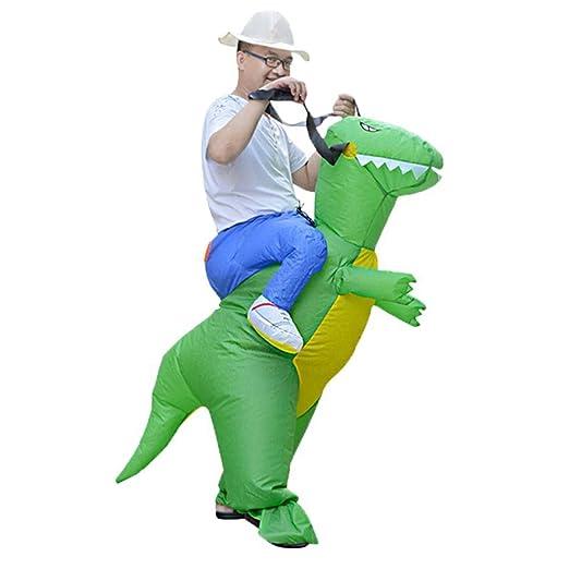 HLifuz Caliente Adulto Niños Hinchable Dinosaurio Disfraz ...