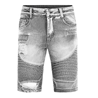 Sunnywill - Pantalones Vaqueros de Verano para Hombre ...