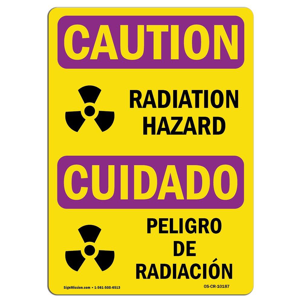 Amazon.com: OSHA Señal de advertencia de radiación – peligro ...