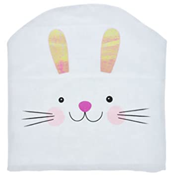 Pleasant Amazon Com Easter Bunny Chair Back Slip Covers Pack Of Two Spiritservingveterans Wood Chair Design Ideas Spiritservingveteransorg