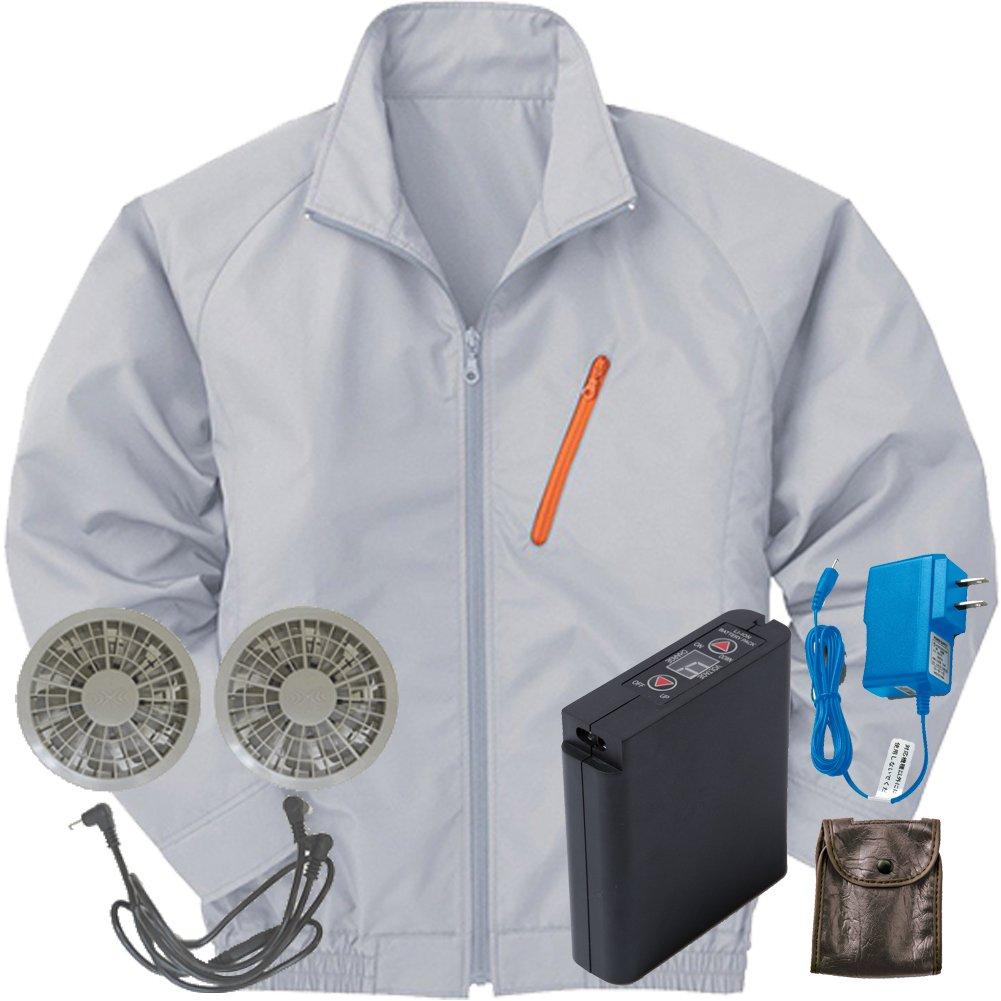 空調服 セット[KU90510ブルゾン+FAN2200グレーファン+LI-ULTRAIリチウムバッテリー] B077XQZCNH L 6 シルバー 6 シルバー L
