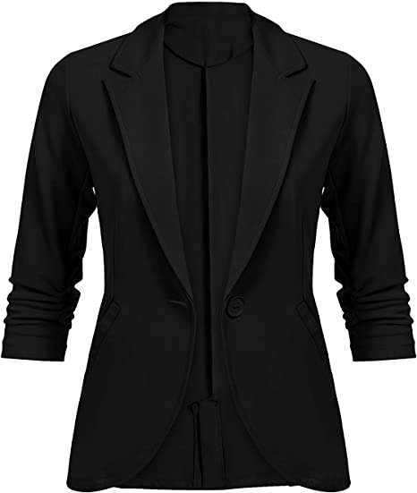 Mujer Blazer Primavera Otoño Fashion Negocios Oficina Chaqueta De ...