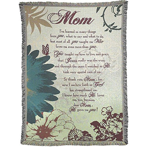 Dicksons Mom He Gave Me You 52 x 68 inch Woven Cotton Throw Blanket