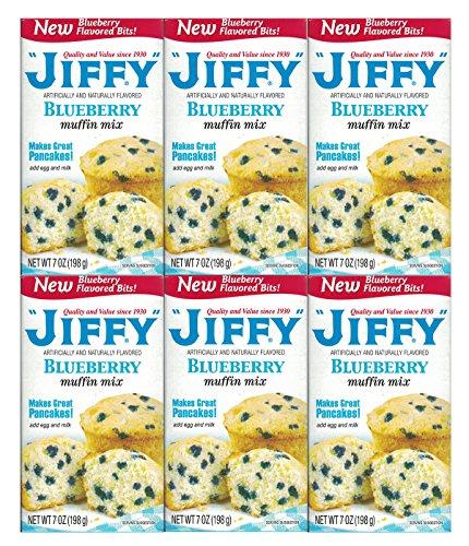 (Jiffy, Blueberry Muffin Mix, 7oz Box (Pack of 6))