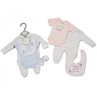 4pièces de vêtements pour bébé prématuré Rose avec Broderie et Applique–5/8Kg