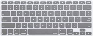 MOSISO Silicone Keyboard Cover Compatible with MacBook Pro 13/15 Inch (with/Without Retina Display, 2015 or Older Version),Older MacBook Air 13 Inch (A1466 / A1369, Release 2010-2017), Gray