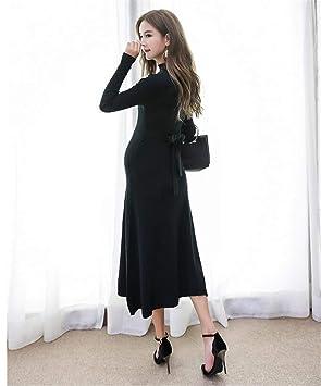 ELEGENCE-Z Maternidad Vestido, Elegante Vestido De Punto Grueso con Manga Larga, Vestido