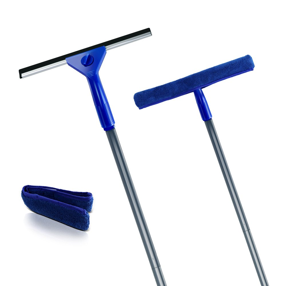 Masthome Squeegee and Microfiber Window Washer Squeegee Sets with Adjustable Handles Perfect for Window&Car Cleaning