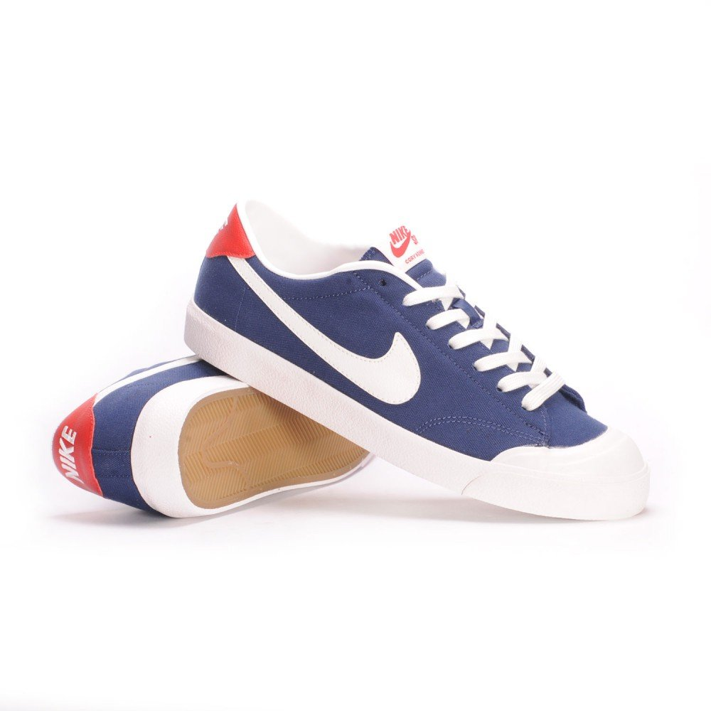 Nike SB Air Zoom All Court CK (Midnight Navy/Summit White) Mens Skate Shoes-11.5
