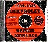 COMPLETE 1934 1935 1936 CHEVROLET CARS REPAIR SHOP & SERVICE MANUAL CD INCLUDES: Standard series DC, EC & FC, Master Deluxe series DA, ED/EA & FD/FA, Sedan Delivery CHEVY 34 35 36