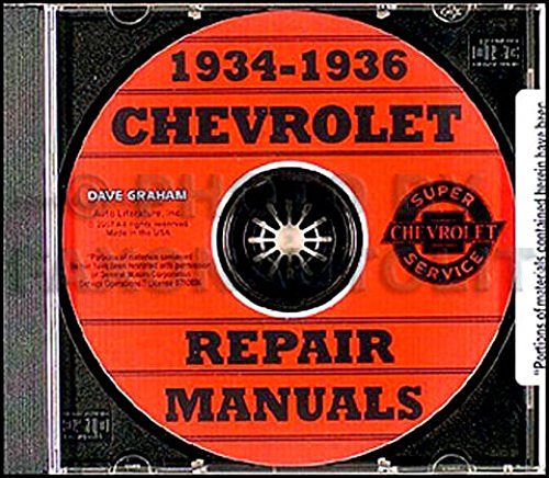 Master 36 Chevy (COMPLETE 1934 1935 1936 CHEVROLET CARS REPAIR SHOP & SERVICE MANUAL CD INCLUDES: Standard series DC, EC & FC, Master Deluxe series DA, ED/EA & FD/FA, Sedan Delivery CHEVY 34 35 36)