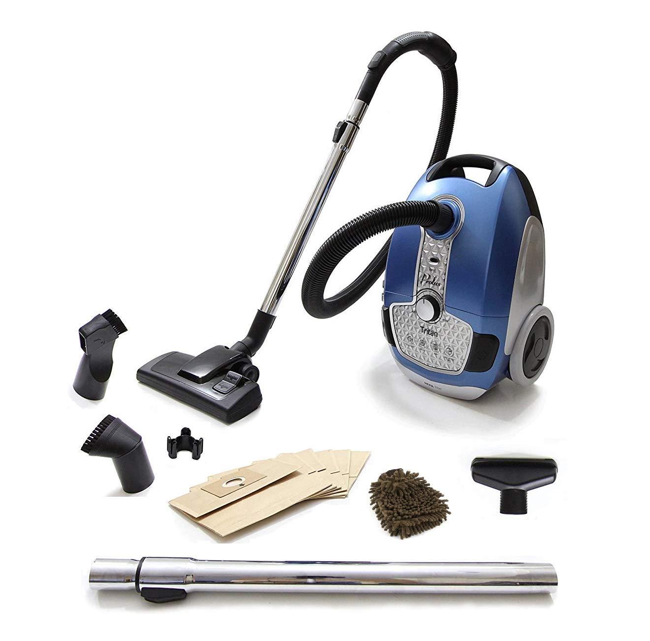 Prolux Tritan Vacuum Cleaner, Canister Pet Turbo, HEPA (Complete Set) w/Bonus: Premium Microfiber Cleaner Bundle