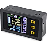 VANJING DC 0-120V 0-30A Color LCD Display Digital Bi-directional Voltage Current Power Meter Ammeter Voltmeter Capacity Time Meter, Multimeter with Relay (DC 0-120V 0-30A)