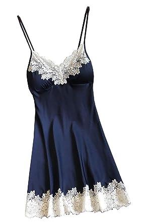 0394877edc Your Love Women Sexy-Lingerie Sleepwear Satin Silk Babydoll Lace Robes  Sleep Dress Skirt at Amazon Women's Clothing store: