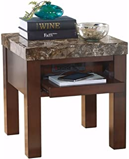 Ashley Furniture Signature Design   Kraleene End Table   Pull Out Tray With  USB Ports