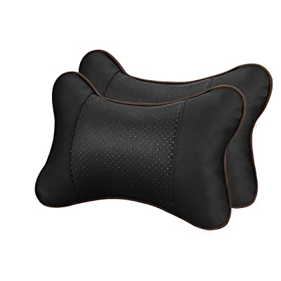 GUSODOR Car Neck Pillow Breathable Auto Head Neck Rest Cushion Relax Neck Support Headrest Comfortable Soft Pillows