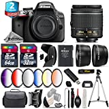Holiday Saving Bundle for D3300 DSLR Camera + AF-P 18-55mm + Flash with LCD Display + Battery Grip + 6PC Graduated Color Filter Set + 2yr Extended Warranty + 32GB Class 10 - International Version