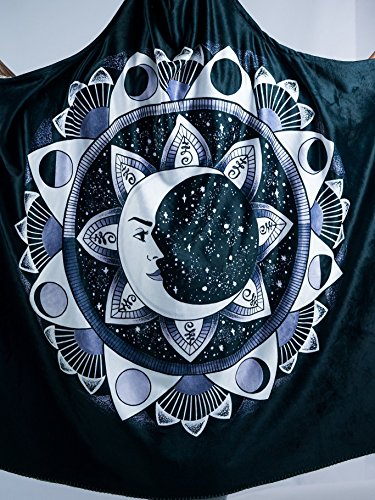 Moon Beams Premium Sherpa Hooded Blanket - Electro Threads by Electro Threads (Image #6)
