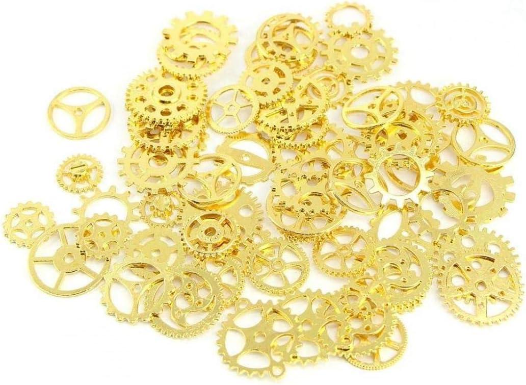 Angoter 1 Lot Old Pi/èces Pendentif Vintage Craft Montre-Bracelet Cogs Steampunk Vitesse m/écanique Mix Accessoires Bracelet en Alliage