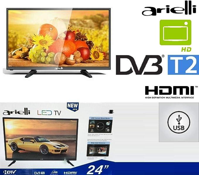 TV LED HD ready Arielli LED32ES3 de 32 pulgadas con pantalla templada Ultra fina, Digital Terrestre T2 3 x HDMI DVB-T2/C: Amazon.es: Electrónica
