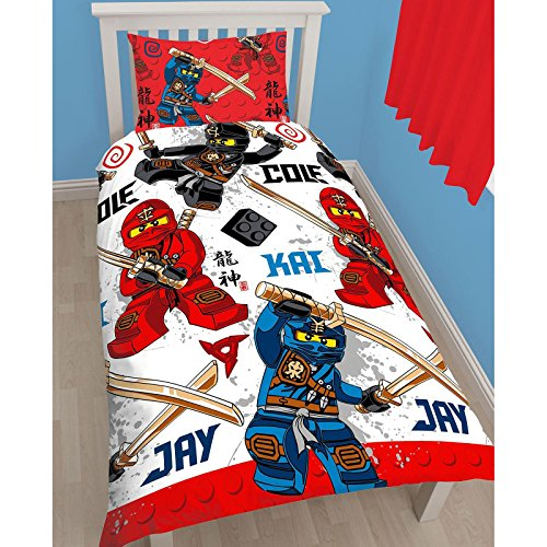 Lego ninjago warrior uk single us twin duvet cover set for Decoration chambre lego