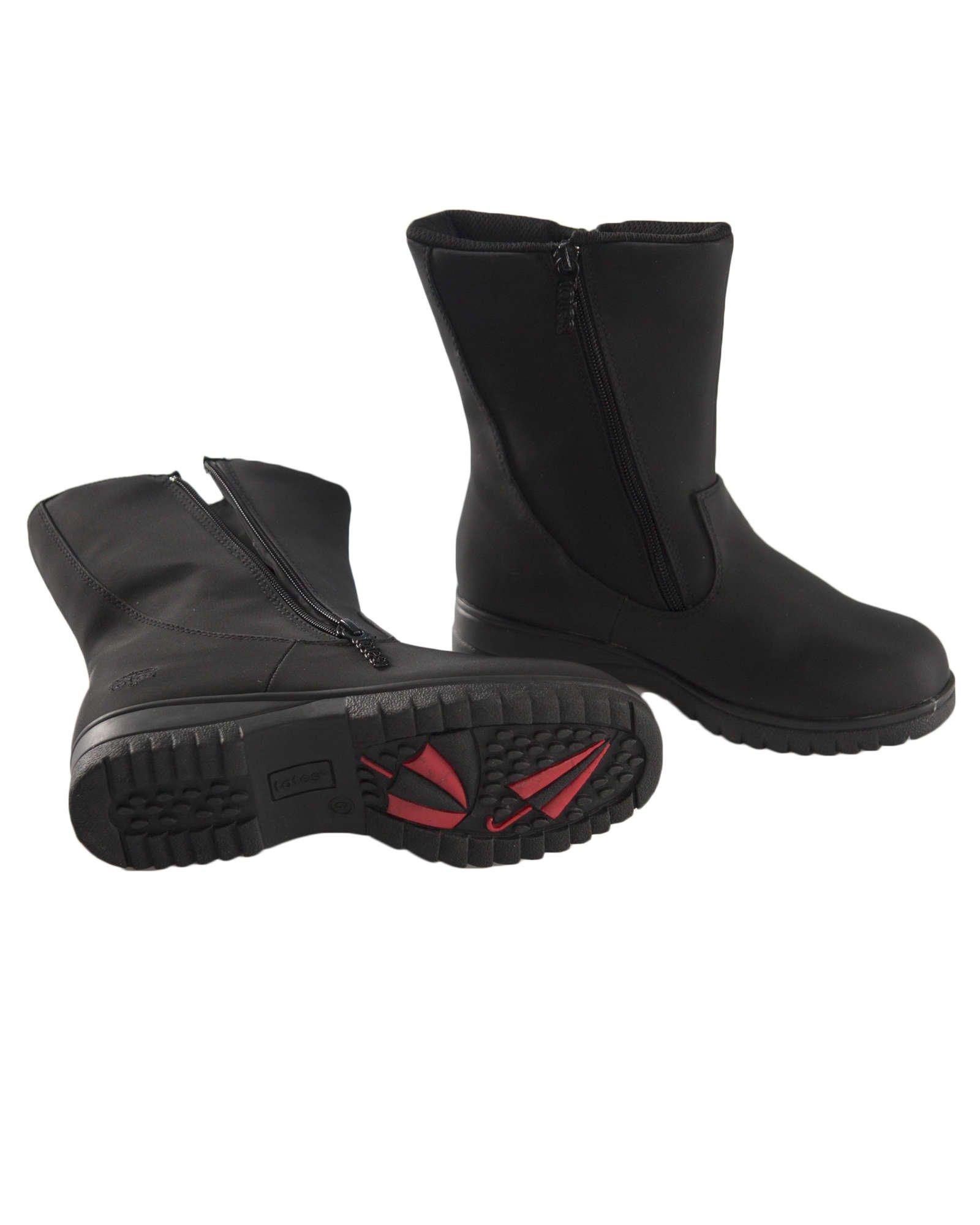 totes Women's Rosie Winter Boots,Black,7 W US