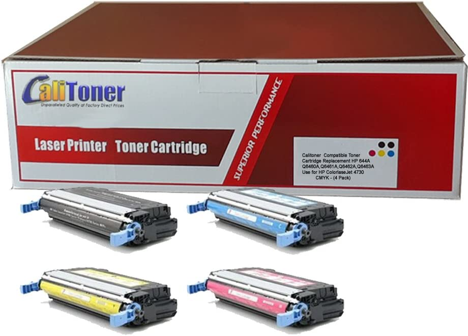 Calitoner Compatible Toner Cartridge Replacement for HP Q6460A ( Black,Cyan,Magenta,Yellow )