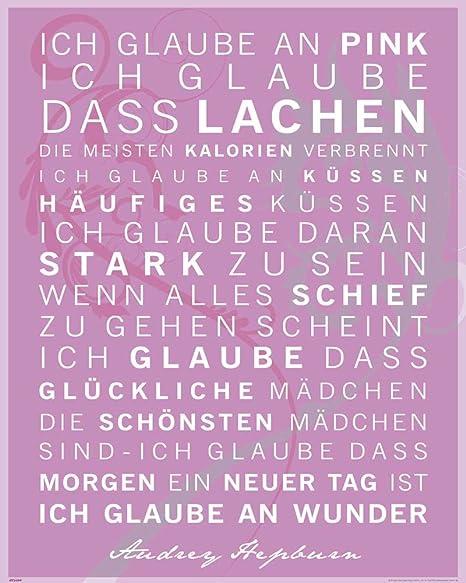 Motivational Ich Glaube An Pink Zitate Sprüche Motivations Poster Druck Poster Grösse 40x50 Cm 1 Packung Tesa Powerstrips Inhalt 20 Stück