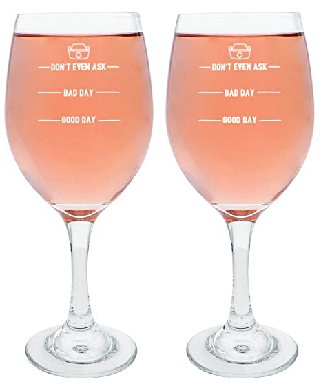 Graduation Gifts For Nurses Funny Nurse Wine Glass Dont Ask Bad