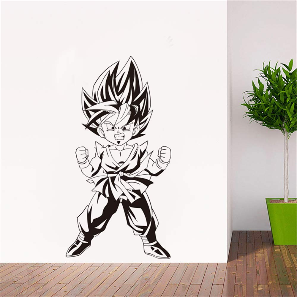 pegatina de pared frases Dragon Ball tatuajes de pared de dibujos ...