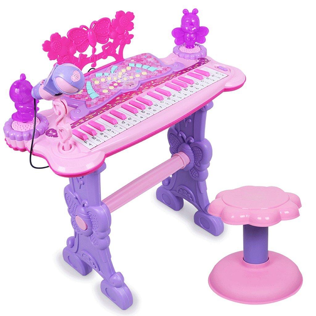 Kinder Tastatur 1-3-6-jährige Mädchen Anfänger Eingang Piano Baby Multi-Funktion Erhöhte Stabilität-farbige Headset U Disk Upgrades Sound-Qualität Lebenslange Garantie