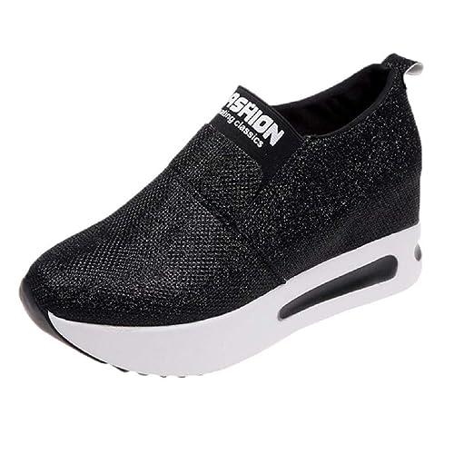Sneaker Keilabsatz Damen Frauen Stiefeletten Plateau Fitness