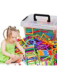 AGARE 500 PC Bars Different Shape Creative and Educational Building Building Block Toy - 3D Puzzle With a Plastic Storage Box BOBEBE Online Baby Store From New York to Miami and Los Angeles