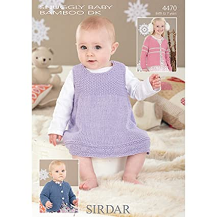 e6cd99886 Sirdar Snuggly Baby Bamboo DK Pinafore and Cardigans Knitting ...