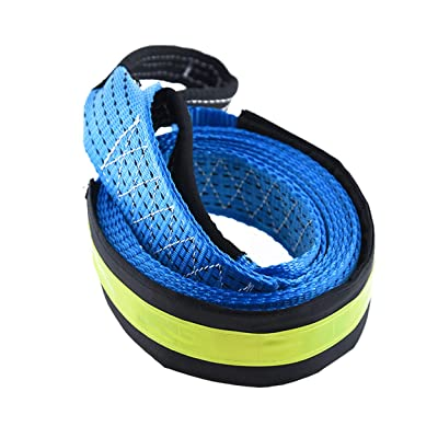 Recovery Tow Strap 2''X13ft Heavy Duty 17000LBs Capacity Heavy Duty Draw String Bag/Gloves Included Reinforced Protective Loop Polyester Fiber Material Off-Road Vehicle Truck Emergency Use: Home Improvement