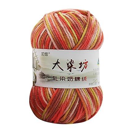 Amazon Liping Chunky Colorful Hand Knitting Baby Milk Cotton