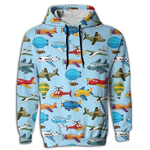 Airship Plane Texture Men's Adult Print Hoodies Cozy Drawstring Pockets Pullover Hooded Sweatshirt Prime Exclusive]()