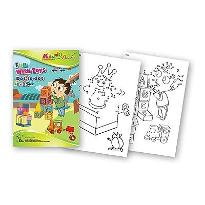 QuackDuck libro para colorear Fun with Toys - Dot to Dot 1 - 35 ...