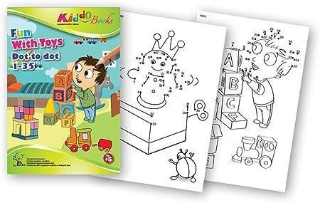 QuackDuck libro para colorear Fun with Toys - Dot to Dot 1 ...