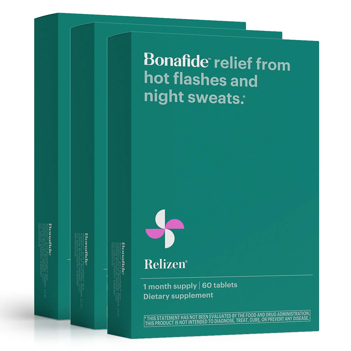 Bonafide – Relizen for Menopause Relief – Hot Flashes – Non-Hormonal, Drug-Free (3 Month)