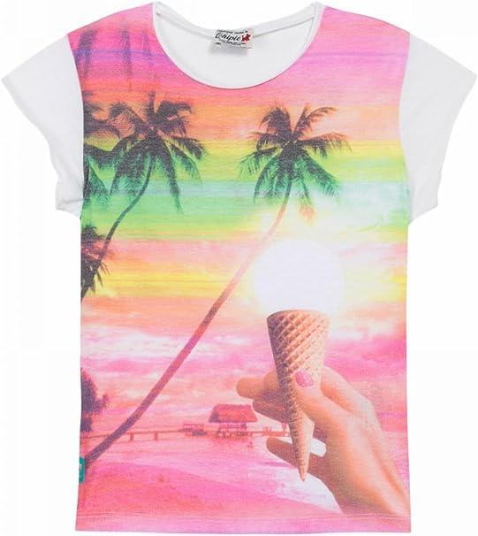 Chipie Camiseta poliéster y algodón Estampado Rosa niña: Amazon.es ...