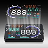 "2015 New Universal 5.5"" Large Screen Car HUD Head Up Display With OBD2 Interface Plug & Play A8 Car HUD Display"