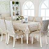 HuaShao HuaShaoThe Restaurant Dining Table Linen Cloth Seat Cushion Upholstery Set Chairs And Tables And Chairs Set Sewing Kit,130180Cm Beige Table Cloths