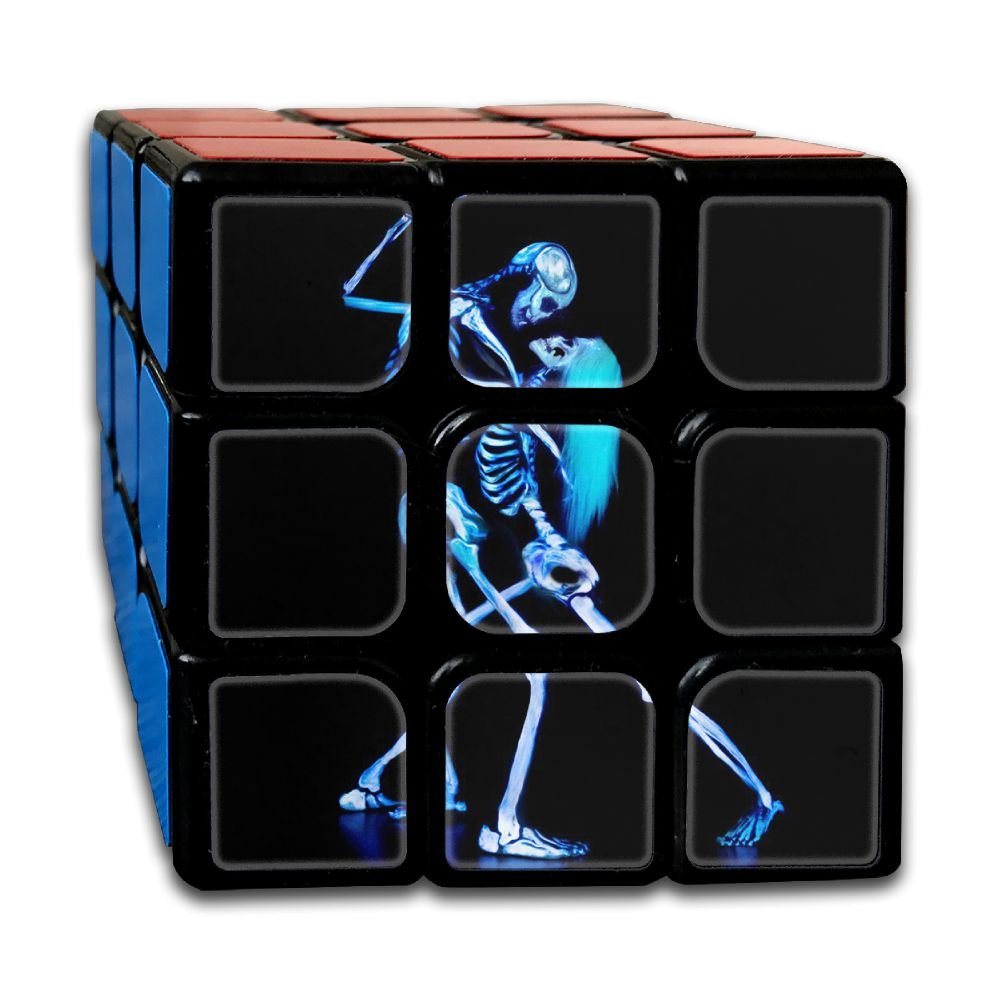 AVABAODAN Dancing Skull Couples Rubik's Cube Custom 3x3x3 Magic Square Puzzles Game Portable Toys-Anti Stress For Anti-anxiety Adults Kids