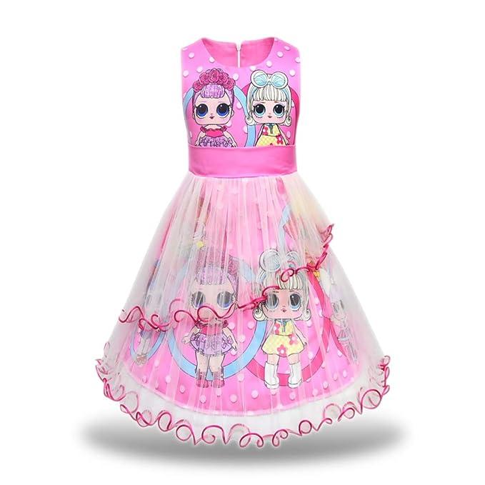Amazon.com: Pandamo vestido de tutú para niñas con estampado ...