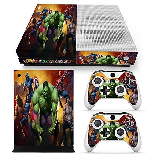 FriendlyTomato Xbox One S Console and Wireless Controller Skin Set - USA Flag US AirForce - XboxOne S Vinyl (Vinyl Hulk)