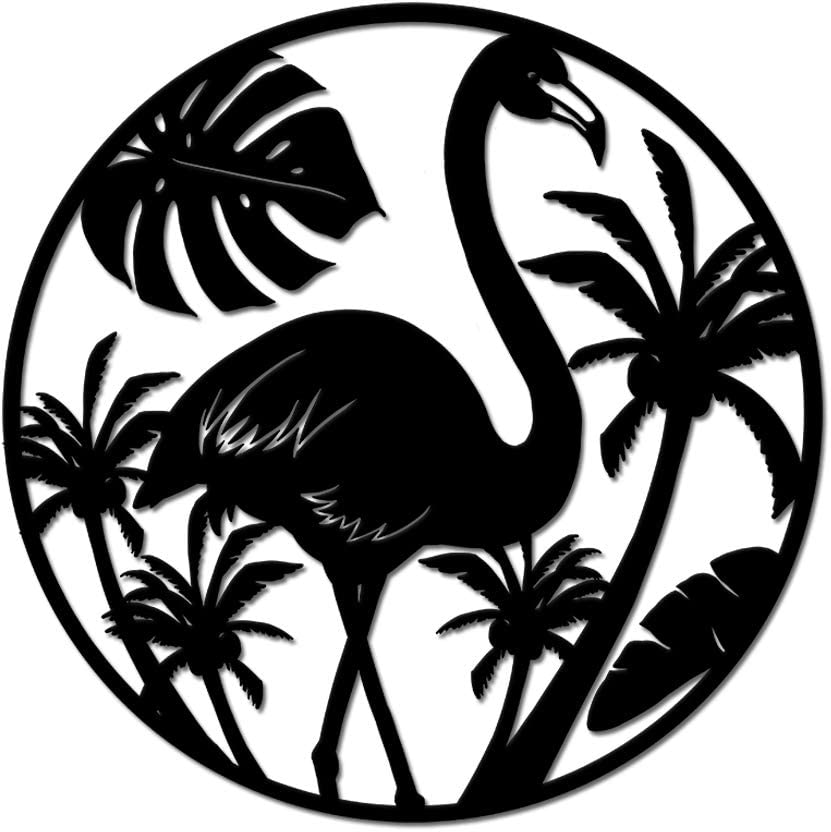 Modern Ranking TOP1 Metal Wall Art Decor Tropical At the price of surprise And Flamingo Tre Palm Theme
